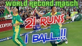 Video 21 Runs off 1 Ball scored in a very famous ODI | South Africa vs Australia World Record Match 2006 MP3, 3GP, MP4, WEBM, AVI, FLV Oktober 2018