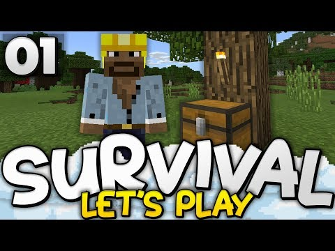 A FANTASTIC START! - Survival Let's Play Ep. 01 - Minecraft Bedrock (PE W10 XB1)