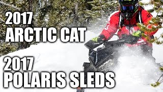 8. 2017 Arctic Cat and 2017 Polaris Snowmobiles