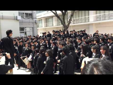 草津中学校 卒業式後 サプライズ 「旅立ちの日に…」