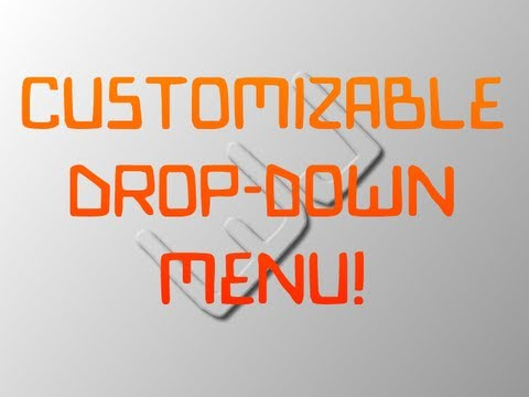 How to Make a Customizable Drop-down Menu Using jQuery, CSS, and HTML