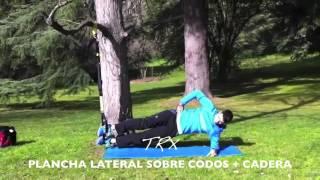 Plancha lateral sobre codos +  elevación de cadera