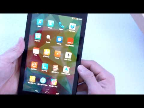 CUBE T7 MTK8752 4G GPS Android 4.4 Tablet PC test