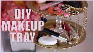 DIY Makeup Tray #DIYRoomDecor by Seventeen Magazine