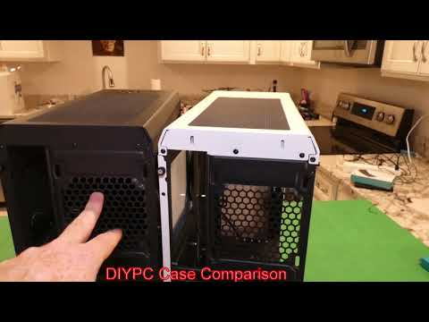 Comparing DIYPC S2-BK-RGB Black and DIYPC DIY-A1-W White Midtower Cases from NewEGG