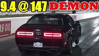 1000 HP Whippled Dodge Demon - 9.41 @ 147 mph - 1/4 Mile Drag Race Video - RoadTest® by Road Test TV