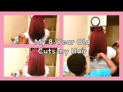 Hair cutting - I Let my 8-Year Old Cut my Hair
