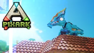 First Tames! PARASAUR and PTERANODON! • Ep.02 • PixARK Multiplayer Gameplay