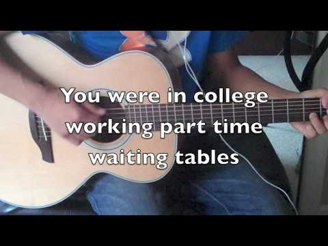 [HD] TAYLOR SWIFT - MINE LYRICS (ON SCREEN) INSTRUMENTAL ACOUSTIC GUITAR COVER