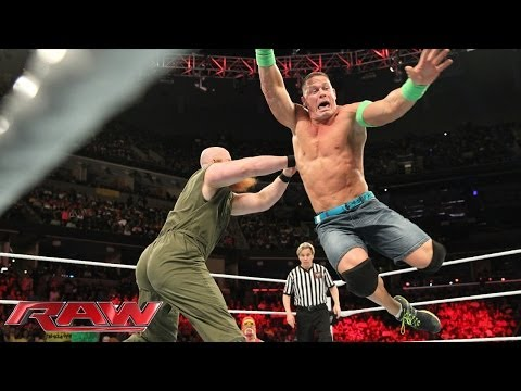 Raw - John Cena squares off with The Wyatt Family's Erick Rowan. http://www.wwe.com/wwenetwork.