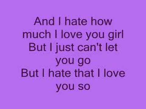 , title : 'Hate that i love you *lyrics*'