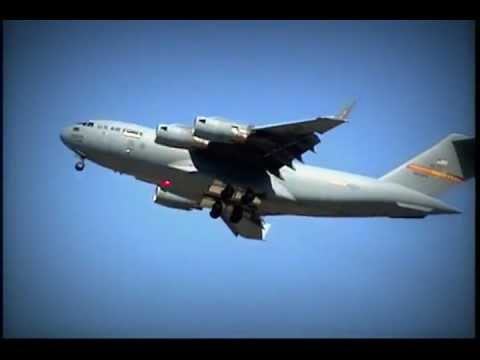The huge C-17 Globemaster III puts...