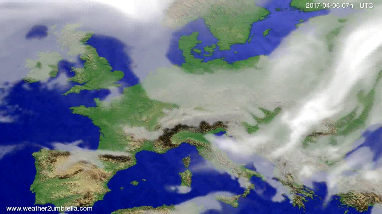 Cloud forecast Europe 2017-04-02