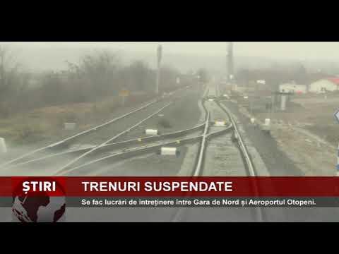 Ruta feroviară între Gara de Nord și Aeroportul Otopeni, suspendată pentru lucrări de întreținere