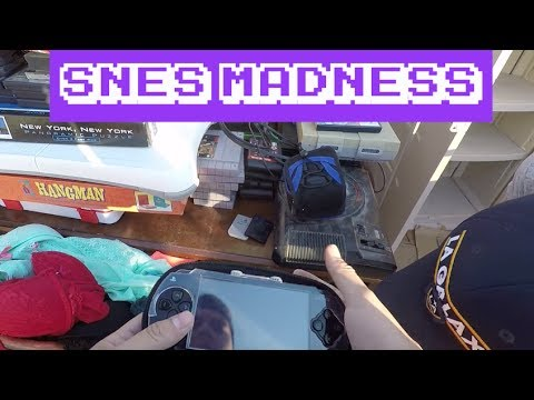 Flea Market Video Game Live Pick ups #70 || SNES Madness