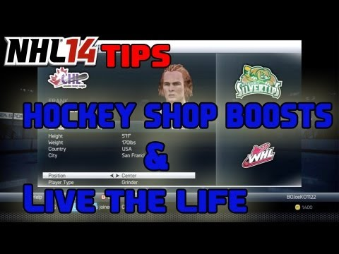 NHL 14 Tips: Unlocking All Boost Slots and Best Live the Life Settings