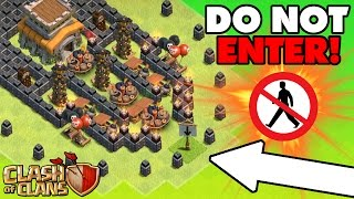 "Video Clash Of Clans | EPIC TROLL BASE ""No Man's Land"" 