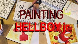 I made this painting of Hellboy jr. for San Francisco's Cartoon Art Museum's fundraiser. They are auctioning many artists interpretations of Hellboy throughout the summer on their eBay shop: http://www.ebay.com/usr/cartoonartmuseumMy digital book collection of gesture drawings is available here: https://gumroad.com/l/MBcyMy digital book collection of café sketches is available here: https://gumroad.com/l/ADscP#My Instagram                      http://www.instagram.com/matt_jonesart/My Art Blog                          http://mattjonezanimation.blogspot.com/Facebook Art Page             http://www.facebook.com/ArtOfMattJones/My Twitter                            https://twitter.com/Jonezee99My GumRoad sketchbook https://gumroad.com/l/ADscP