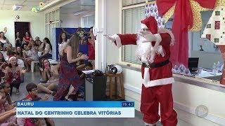 Voluntários fazem festa de Natal para pacientes do Centrinho em Bauru