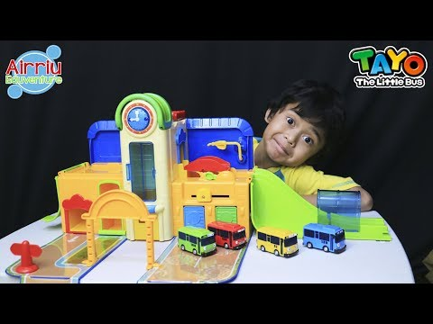 Unboxing Tayo the Little Bus Friends Parking Garage Learn Colors