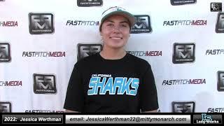 2022 Jessica Werthman 4.4 GPA Pitcher and First Base Softball Skills Video - SJ Lady Sharks
