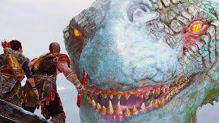 GOD OF WAR 4 -  Kratos Vs. The World Serpent Boss Gameplay Trailer (PS4 2018)