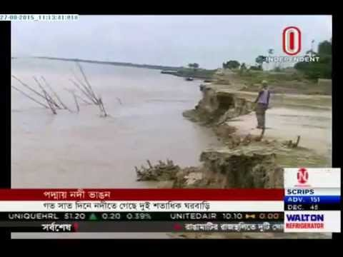 Erosion eats up Padma Bridge construction sites (27-08-2015)