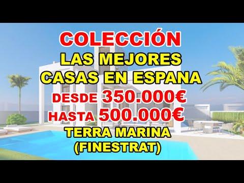 350-500000€/Terra Marina/Finestrat/Vídeo de MEJORES VILLAS en España/Casas en construcción