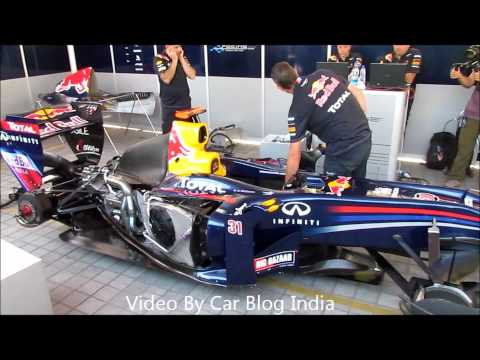 Sound Of An F1 Engine- Red Bull Formula 1 Racing Car Engine Firing, Revving and Running