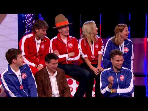 Team Coe take to the stage after their victory in Clash of the Titans | Sport Relief 2014