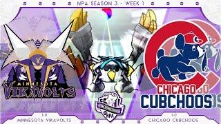Overpowered! | Minnesota Vikavolts VS Chicago Cubchoos Week 2 NPA S3  | Pokemon Sun Moon WiFi by aDrive