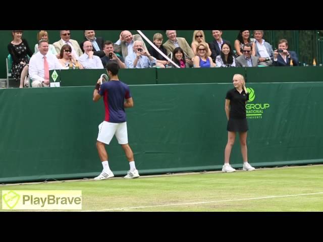 Djokovic & Dimitrov bắt chước Maria Sharapova