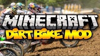 Minecraft: DIRT BIKES! (Ride Dirt Bikes in Minecraft!) | Mod Showcase [1.6.2]