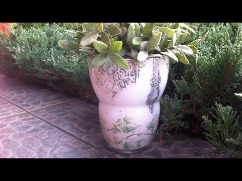 decorare un vaso con la tecnica del decoupage