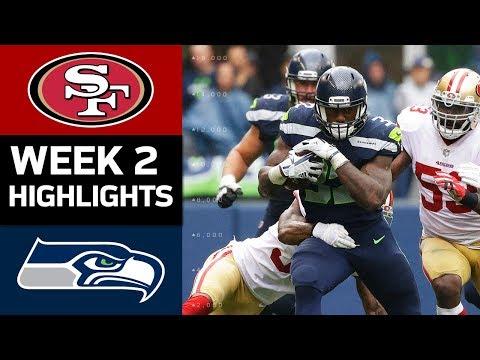49ers vs. Seahawks | NFL Week 2 Game Highlights (видео)