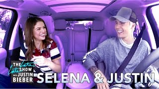 Video Selena Gomez & Justin Bieber Carpool Karaoke MP3, 3GP, MP4, WEBM, AVI, FLV April 2018