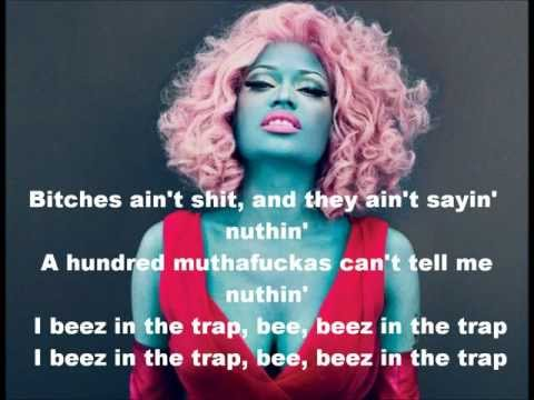 Video Beez in the Trap - Nicki Minaj Feat. 2-Chainz (lyrics) FASTER VERSION! download in MP3, 3GP, MP4, WEBM, AVI, FLV January 2017