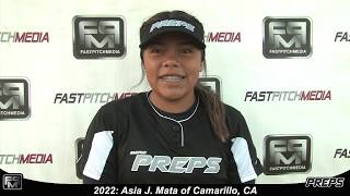 2022 Asia Mata Outfield and Second Base Softball Skills Video - Easton Preps