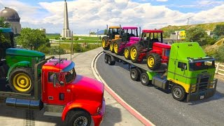 Video Colors TRACTOR Transportation on Truck Spiderman Superheroes Toilet Prank Cartoon for Kids MP3, 3GP, MP4, WEBM, AVI, FLV Juni 2018