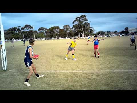 Afl Barwon V Afl Goldfields Under 16 July 5 Michael Smith One Handed Mark And Goal.
