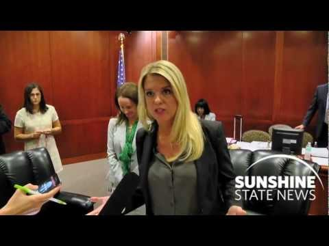 <i>Kevin Derby</i>: Florida Attorney General Pam Bondi reacts to the U.S. Supreme court's health-care ruling on June 28, 2012. Courtesy: Dave Heller Video