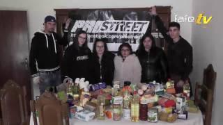 Prostreet entregou alimentos e 3000 euros à Carolina