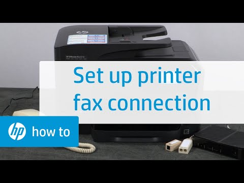 Setting Up a Fax Connection with an HP Printer