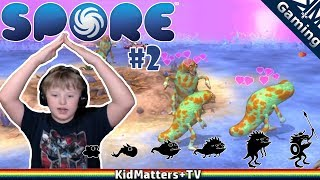 """Tragen's monster creation reaches creature stage in the game Spore. Rising up from the water and on to land. Making a killing from the neighbors while singing to others. This video is shot in 1080p60fps.Spore part 1 : https://youtu.be/wfNt0nVbKmISpore is rated E 10+esrb.org:  """"SPORE is a simulation game in which players guide a species through different stages of evolution from its beginnings as a single cell organism to development as space-exploring creatures. Players can modify and customize their creatures by adapting various traits such as wings, horns, or feet. Biological traits are gained through interactions and battles --represented by turn-based combat -- with other rival species. Combat can include raiding and attacking non-threatening creatures/tribes with spears, launching nuclear missiles on rival cities, or engaging in laser fire with spaceships and planets. Creatures occasionally emit colored puffs/plumes of blood when defeated or consumed. Certain species occasionally throw-up food.""""per wikipedia:Spore is a 2008 life simulation, real-time strategy single-player god game developed by Maxis and designed by Will Wright, released for Microsoft Windows and Mac OS X. Covering many genres including action, real-time strategy, and role-playing games (RPG), Spore allows a player to control the development of a species from its beginnings as a microscopic organism, through development as an intelligent and social creature, to interstellar exploration as a spacefaring culture. It has drawn wide attention for its massive scope, and its use of open-ended gameplay and procedural generation. Throughout each stage, players are able to use various creators to produce content for their games. These are then automatically uploaded to the online Sporepedia and are accessible by other players for download.Spore was released after several delays to generally favorable reviews. Praise was given for the fact that the game allowed players to create customized creatures, veh"""