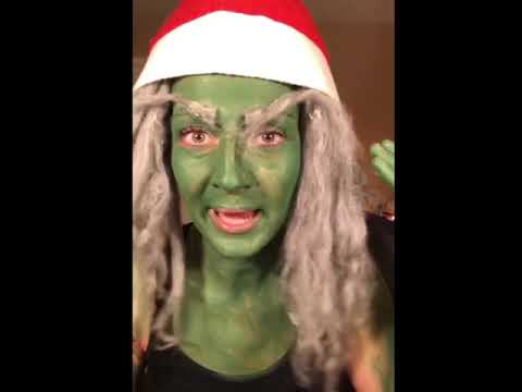 Grinch makeup tutorial after edibles (видео)