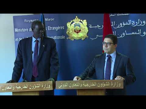 ناصر بوريطة يجري مباحثات مع نظيره لدولة جنوب السودان