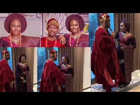 Bimpe Oyebade Confirms It's Not From A Movie, Lateef Adedimeji & Bimpe Celebrate Traditional Wedding