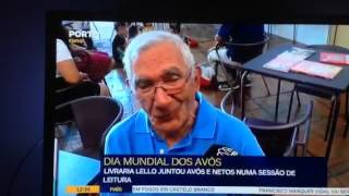 Dia Mundial dos Avós - Livraria Lello - Avô Alberto Rodrigues conta histórias