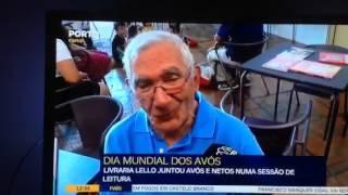 Dia Mundial dos Avós - Livraria Lello - Avô Alberto Rodrigues conta histórias