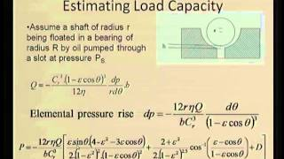 Mod-06 Lec-40 Hydrostatic Bearings